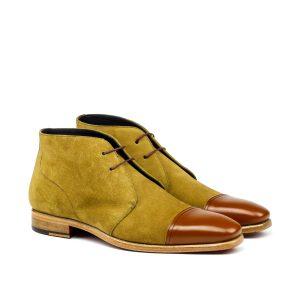 Bota de vestir para hombre camel suede cap toe Chukka Boot