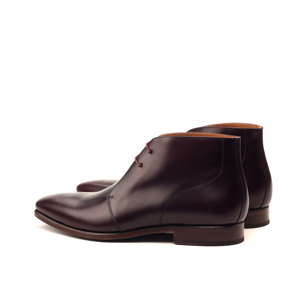 Burgundy box calf Chukka boot