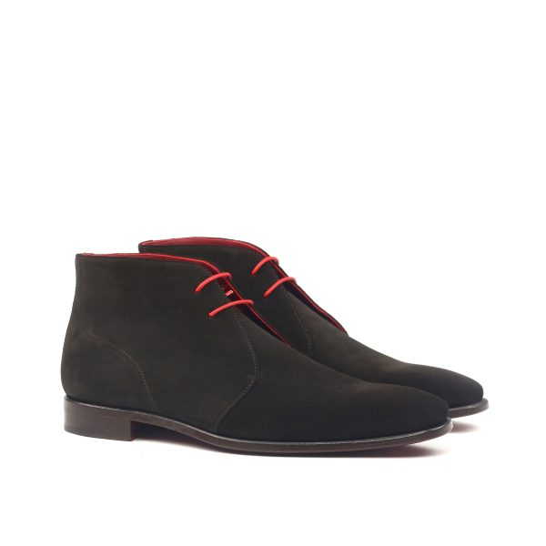Bota Chukka en ante color marrón oscuro
