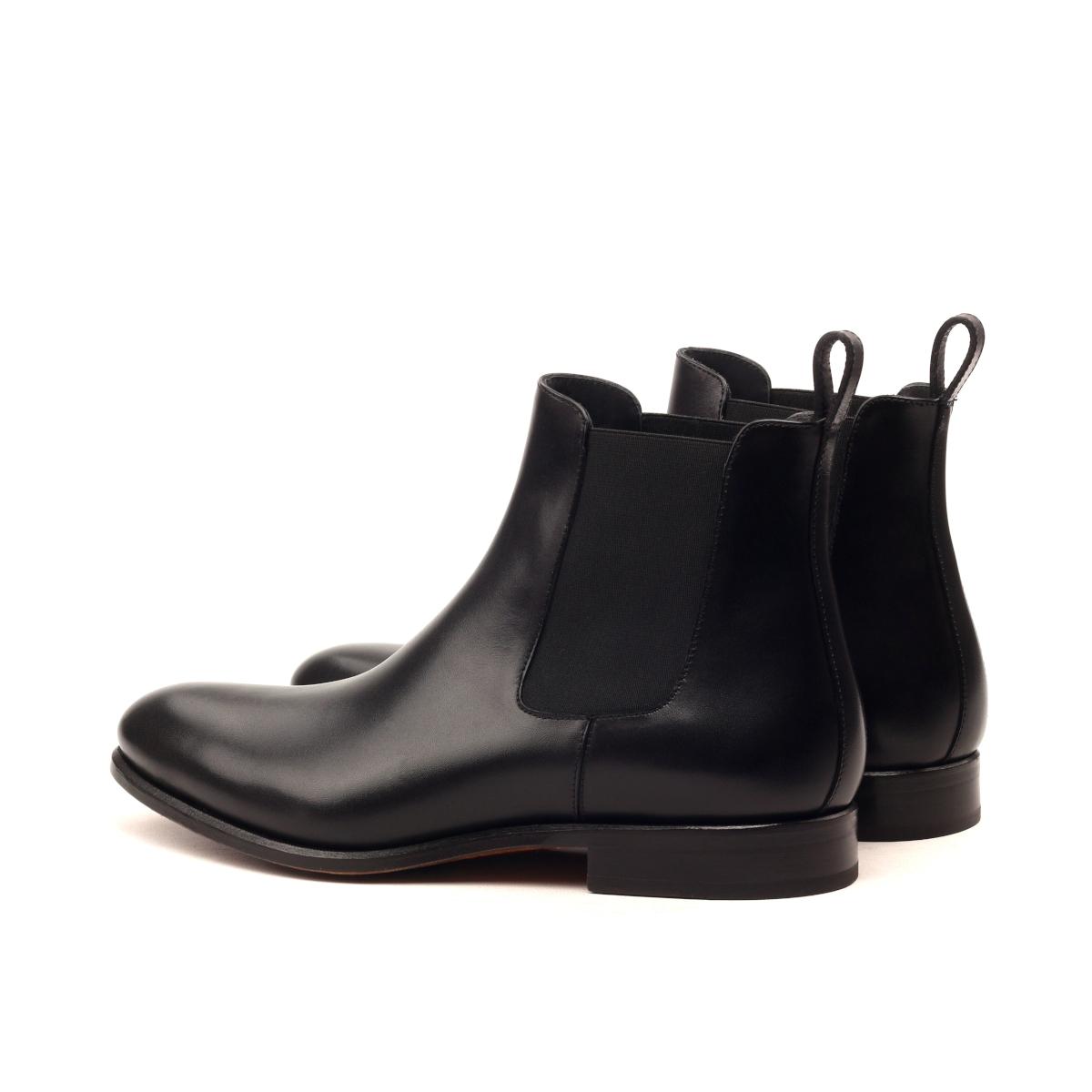 Black box calf Chelsea boot