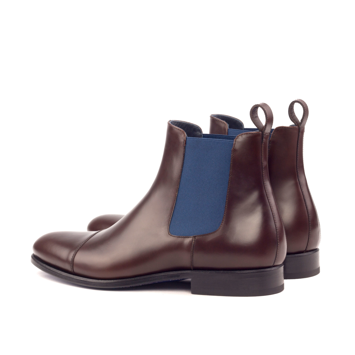 Burgundy box calf Chelsea boot