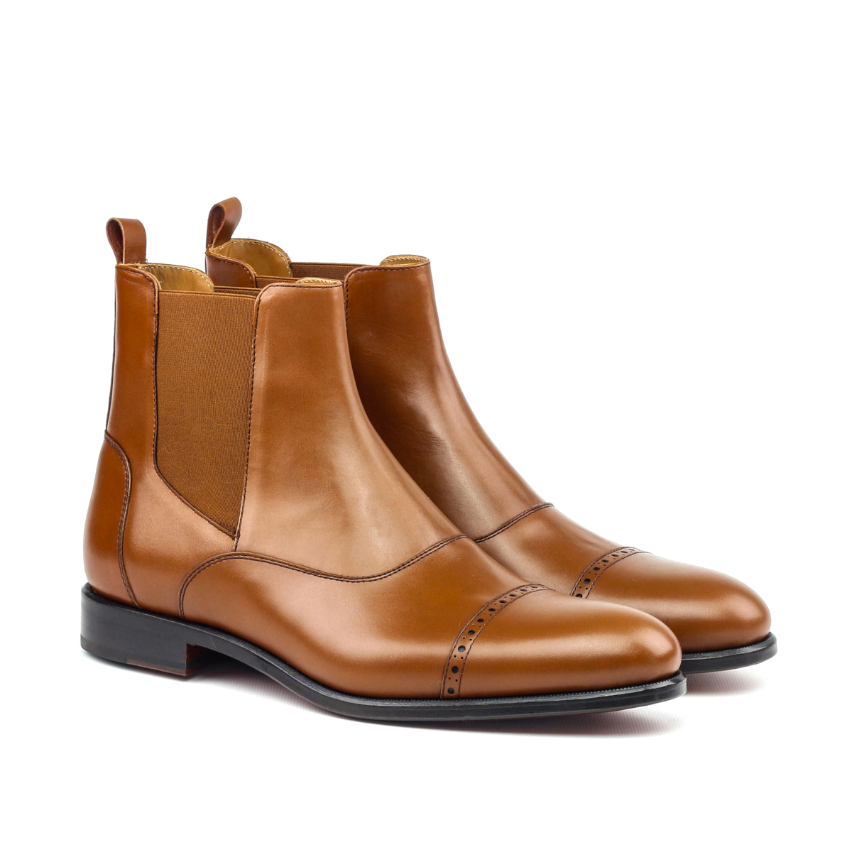 Chelsea boot hand polished cognac