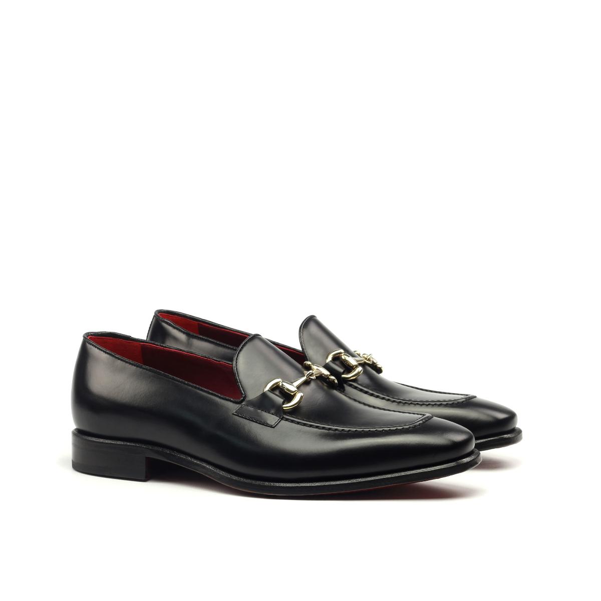 3e3d5238fe8122 Black box calf horsebit loafer - Cambrillón Bespoke Leather