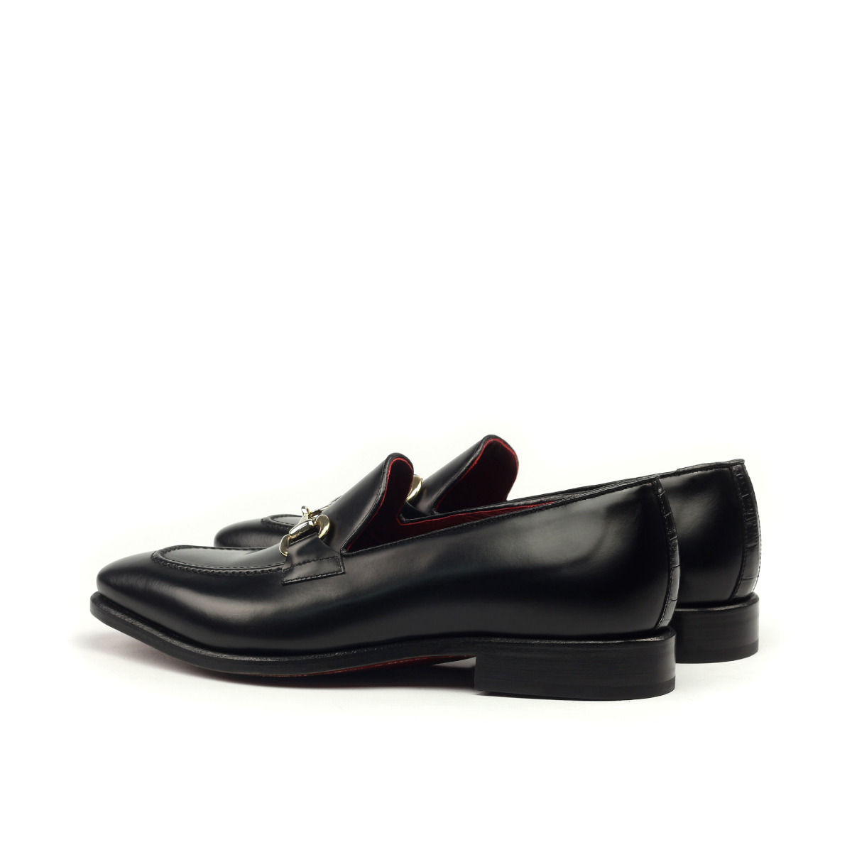 Black box calf horsebit gucci loafer