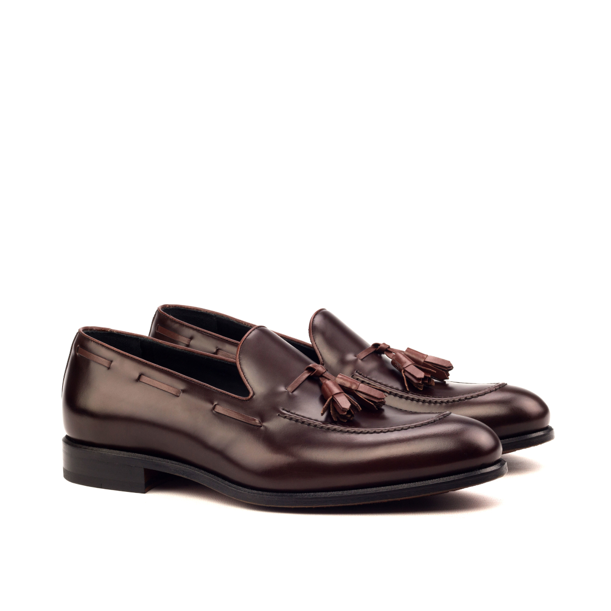 Burgundy box calf tassel loafer
