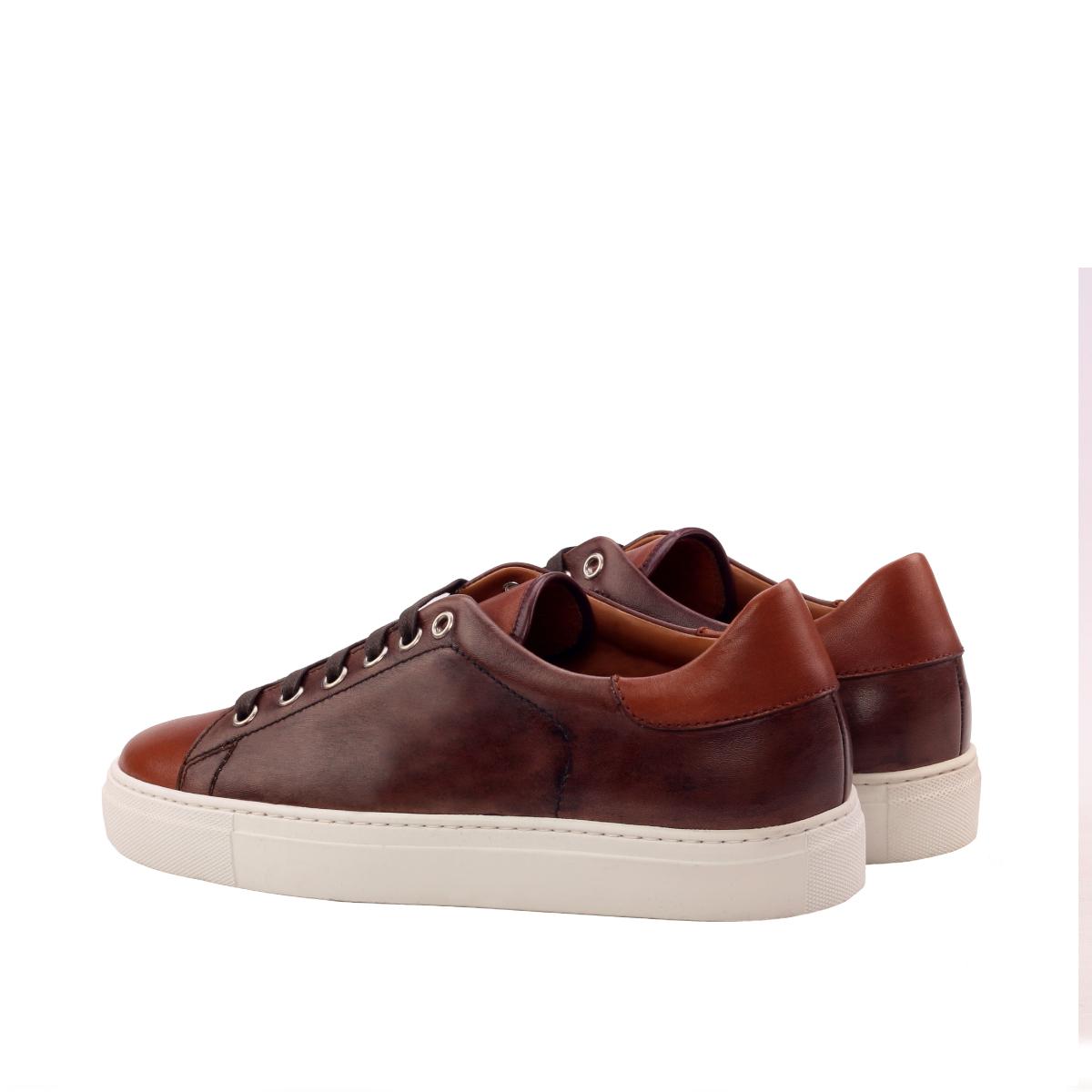 Brown box calf sneakers