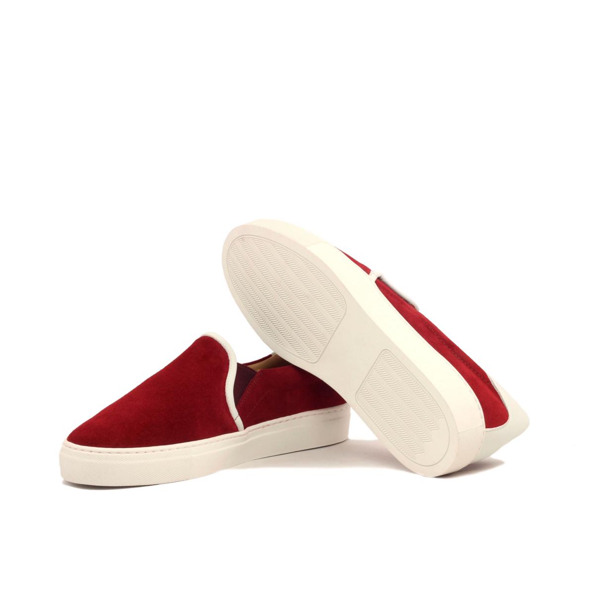 Slip-on Sneaker en ante rojo