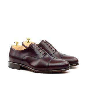 Zapato para caballero Oxford POL cap toe burdeos