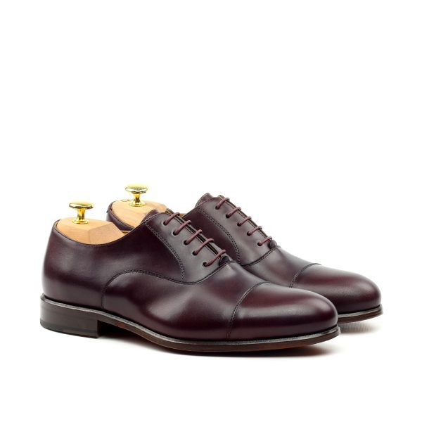 Burgundy calfskin cap toe Oxfords