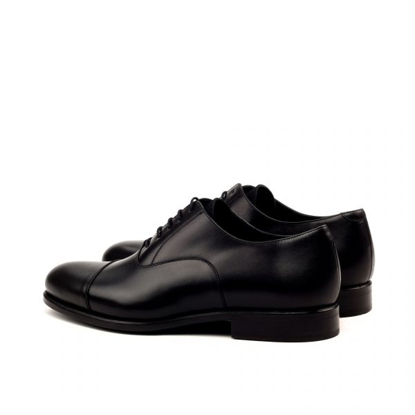 Black calfskin cap toe Oxfords