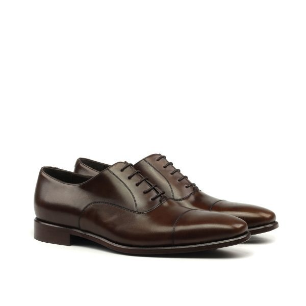Cap toe Oxford en boxcalf marrón