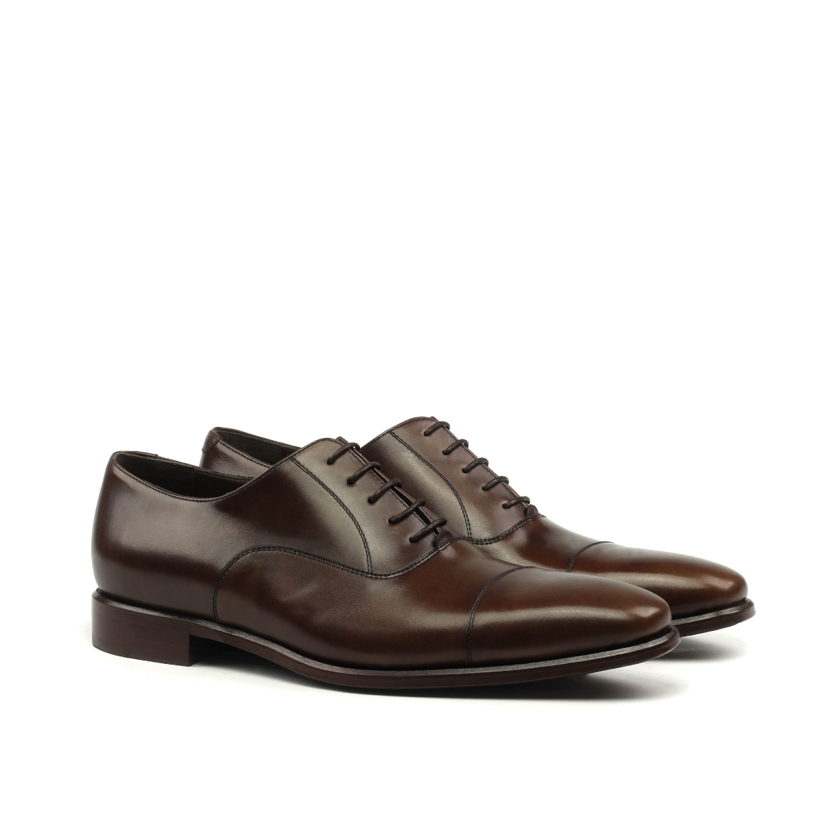 Dark brown cap toe Oxford