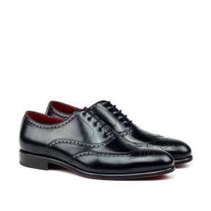 Zapato para hombre Oxford POL full brogue en boxcalf negro