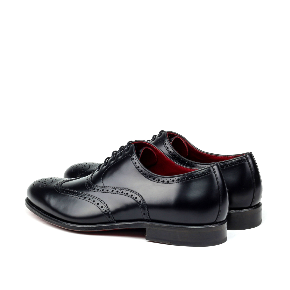 Black hand polished Oxford