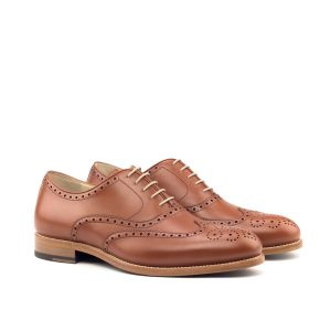 Zapato para hombre Oxford full brogue en boxcalf cognac