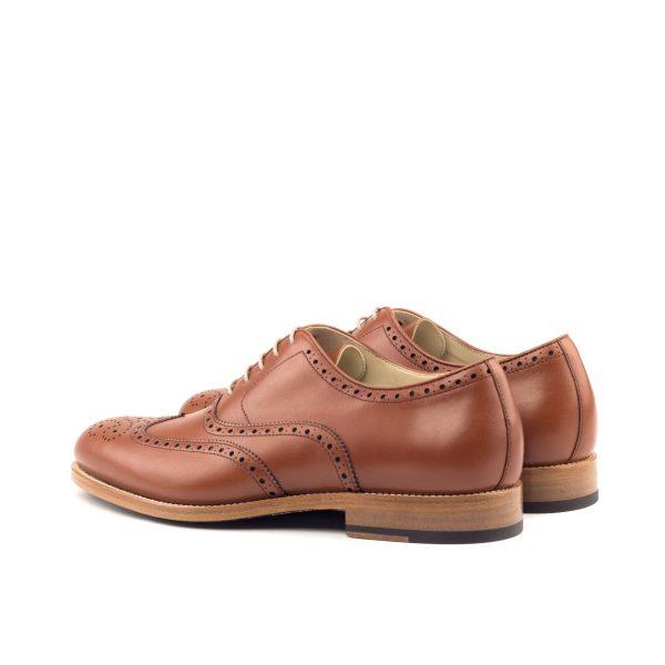 Zapato para hombre Oxford full brogue en boxcalf cognac