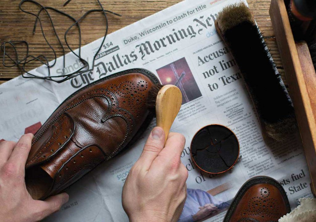 Primer paso. Limpieza del zapato
