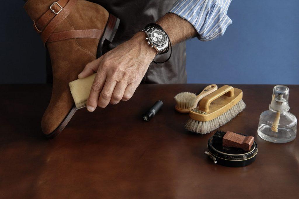 Limpieza de zapatos de ante