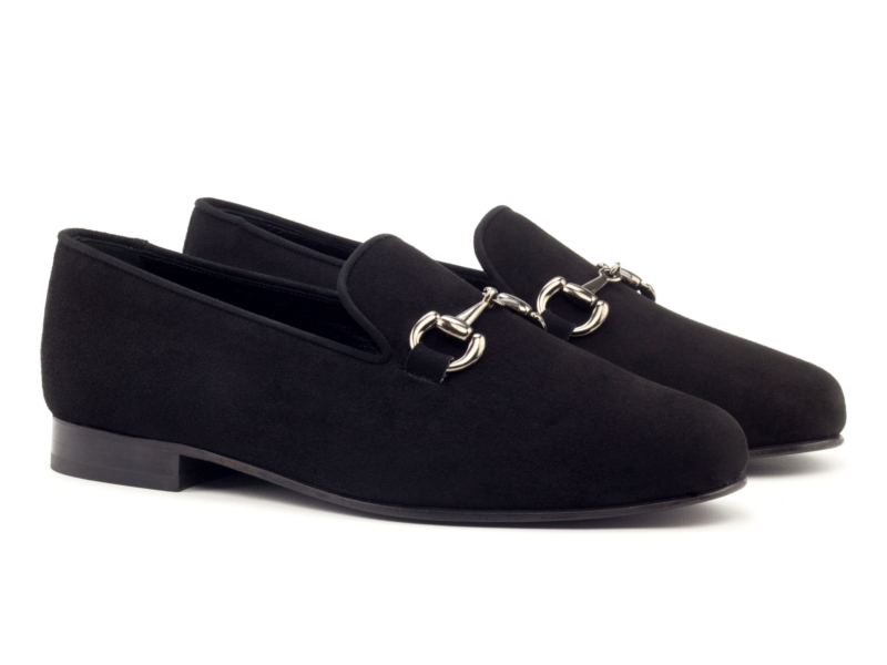 Black suede Gucci Slippers for men by Cambrillon
