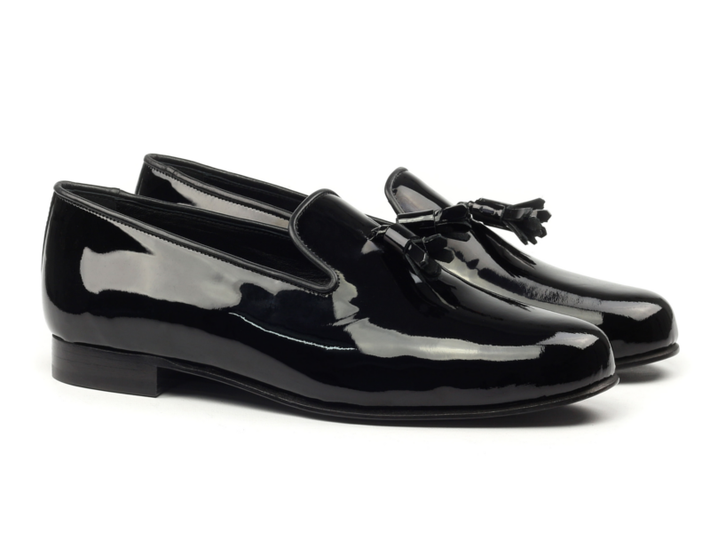 Black patent Slippers for men by Cambrillon