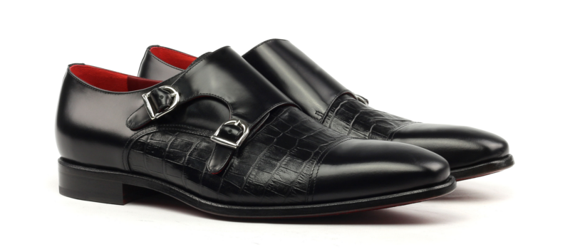 Monkstrap BIEL Monti doble hebilla boxcalf negro cambrillon