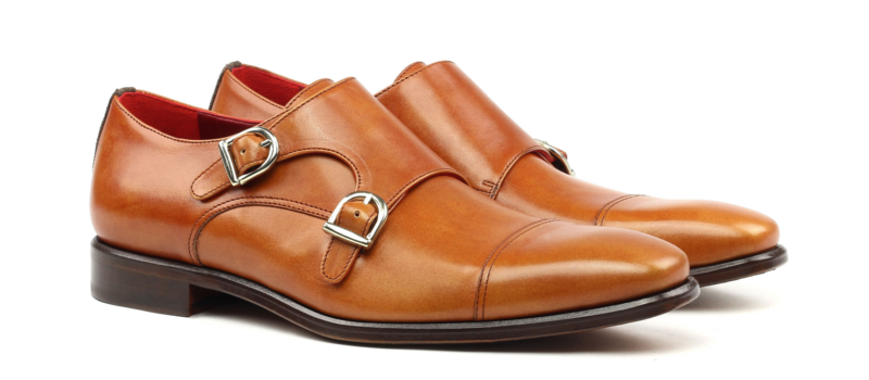 Monkstrap dos hebillas boxcalf cognac Cambrillon