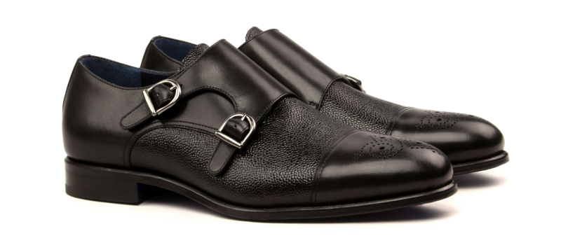 Monkstrap doble hebilla negro Cambrillon