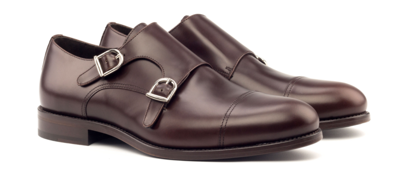 Monkstrap dos hebillas boxcalf chocolate Cambrillon