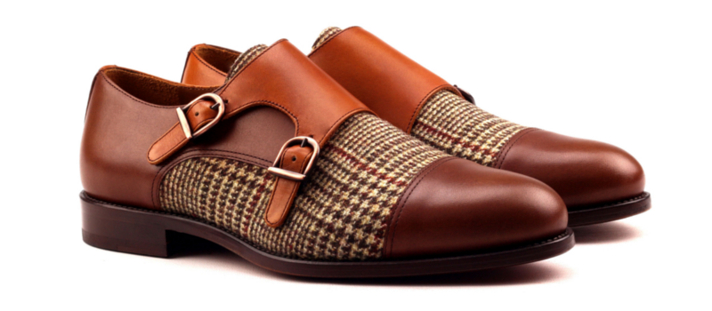 Monkstrap dos hebillas marron Cambrillon