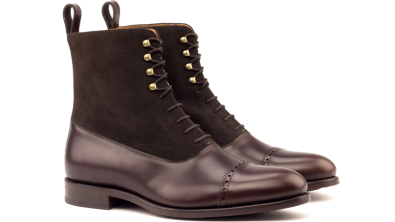 Bota Balmoral VICTOR boxcalf y ante marron chocolate_1-6