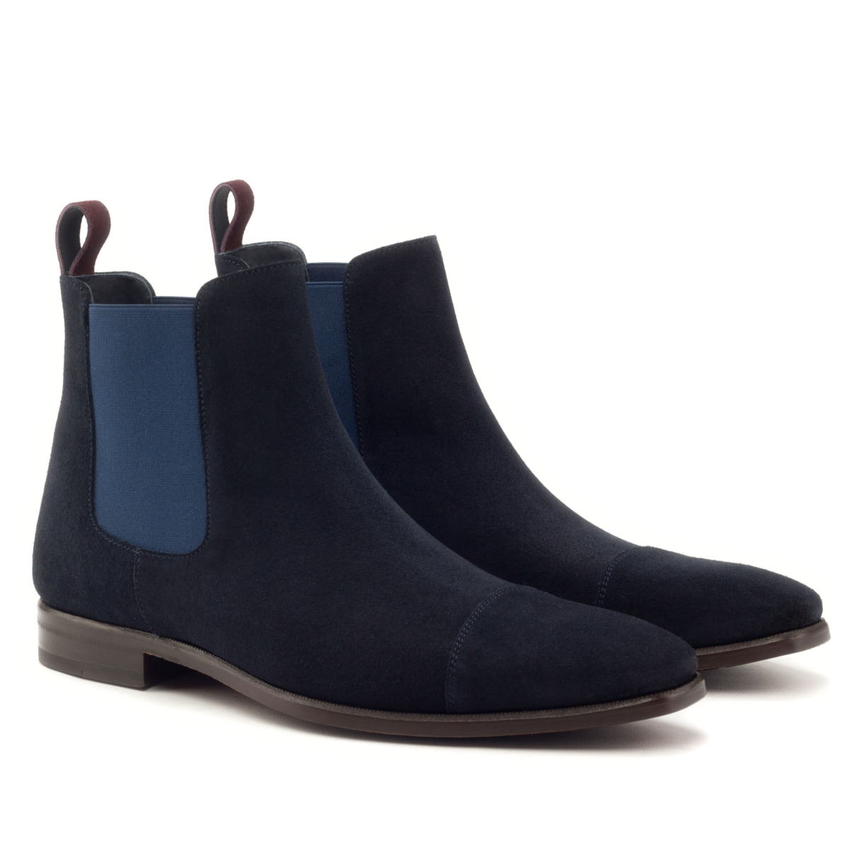 9c083c33fe0b7 Navy blue suede Chelsea boot - Cambrillón Bespoke Leather