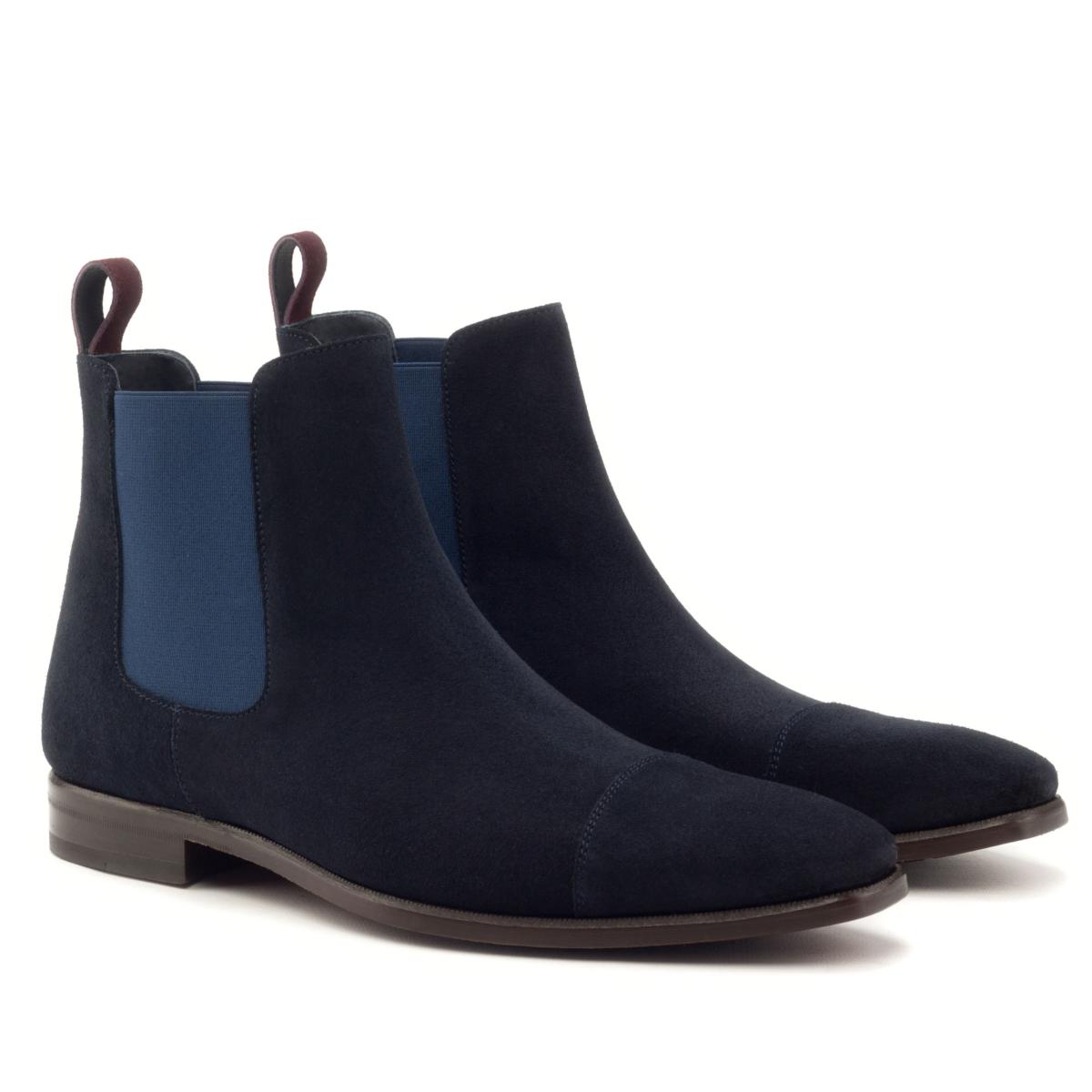 Chelsea boot for men in navy blue suede