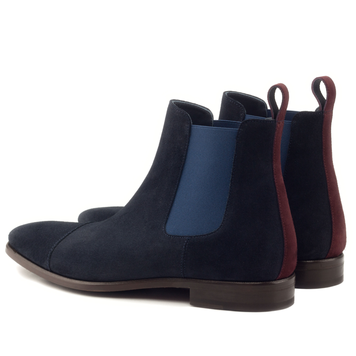 Chelsea boot navy blue suede
