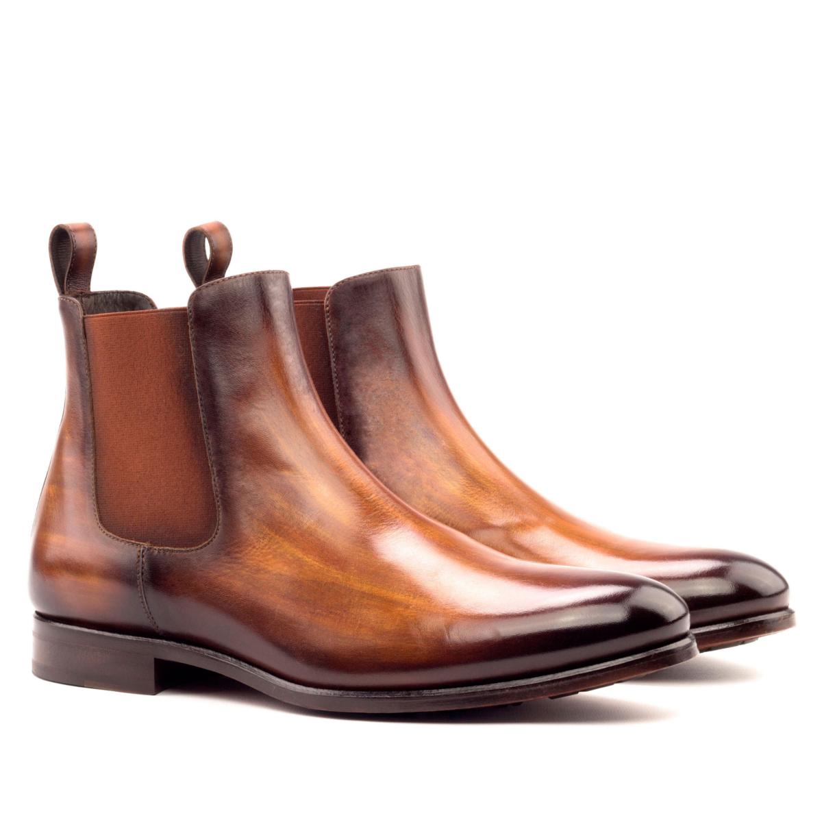 Chelsea boot crust patina