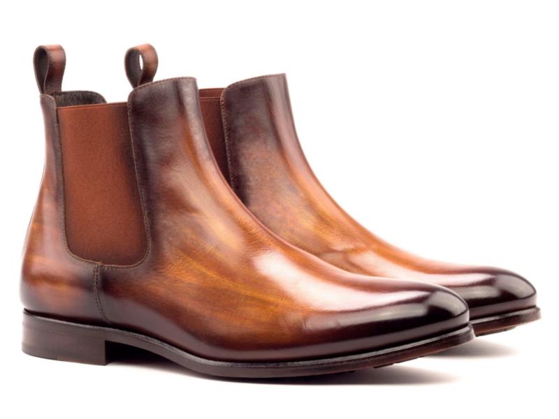 Chelsea boot DARIO in crust patina cognac Cambrillon
