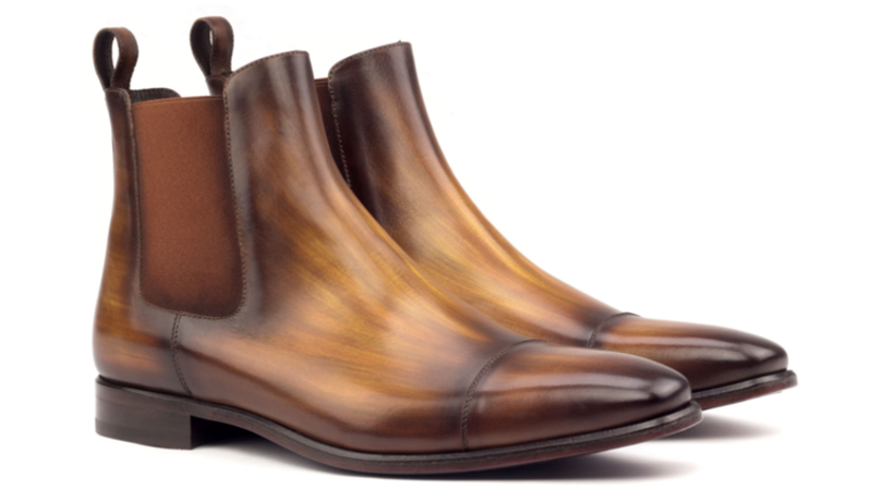 Bespoke chelsea boot in crust patina cambrillón