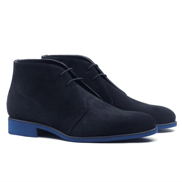 Chukka boot navy blue suede