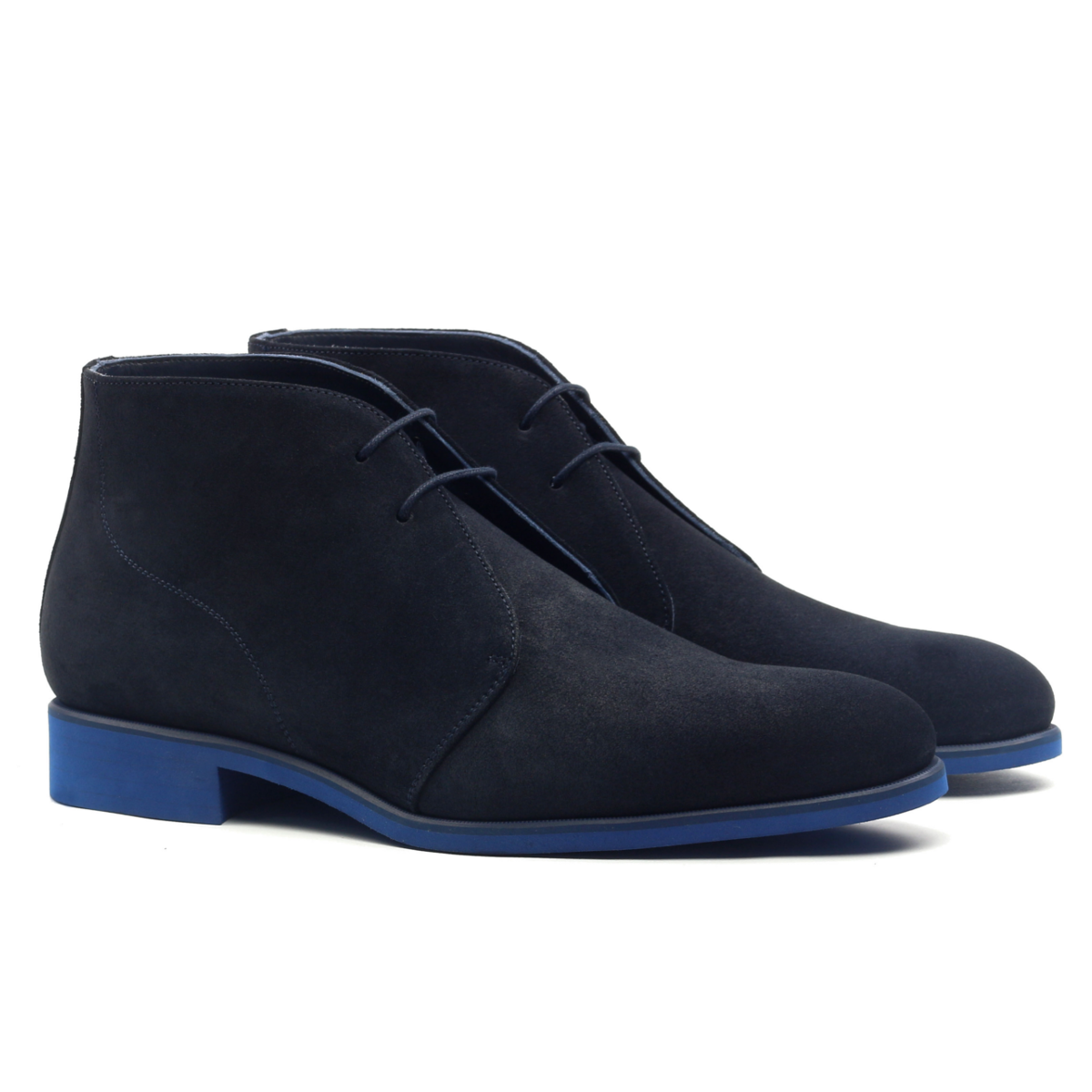 df1e7d5100ac8 Chukka boot blue suede - Cambrillón Bespoke Leather