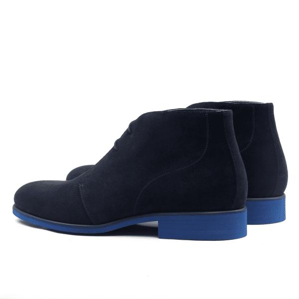 Chukka boot navy blue suede-2