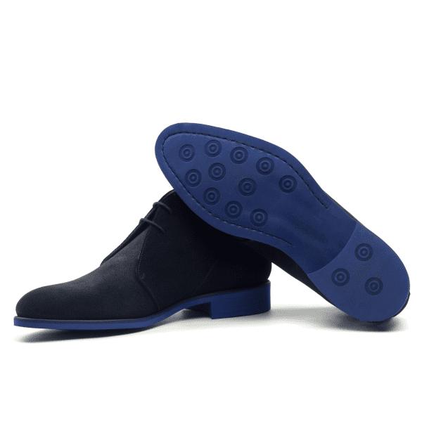Chukka boot navy blue suede-3
