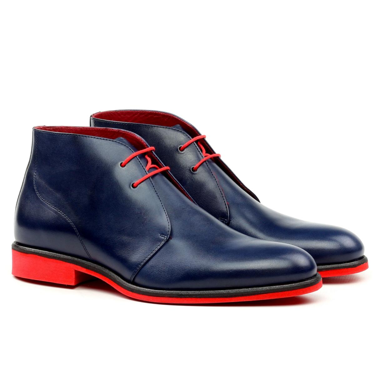 Blue box calf Chukka boot
