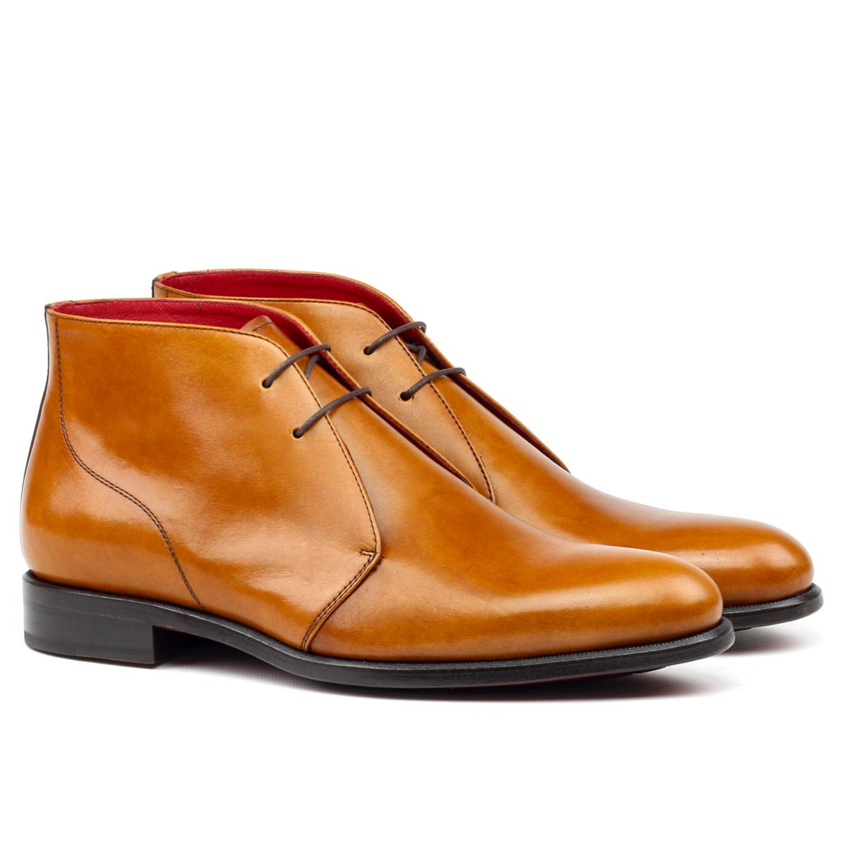 6333a2055d935 Chukka boot in cognac boxcalf - Cambrillón Bespoke Leather