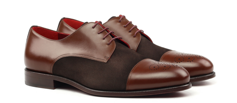 Derby IVO punched cap toe brown derby_1-6