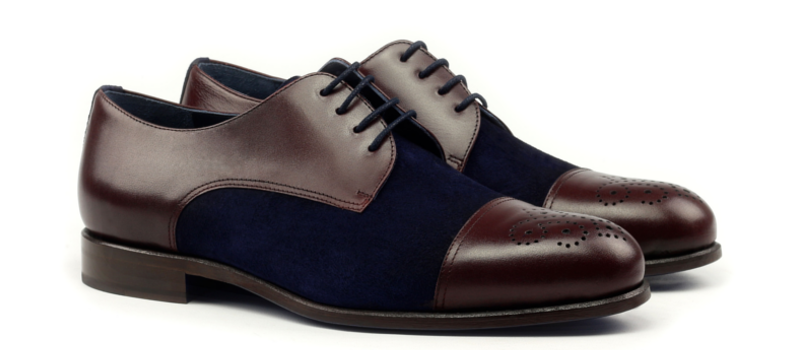 Punched cap toe derby Cambrillon