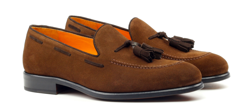 Tassel Loafer LUCA en ante marrón_1-6