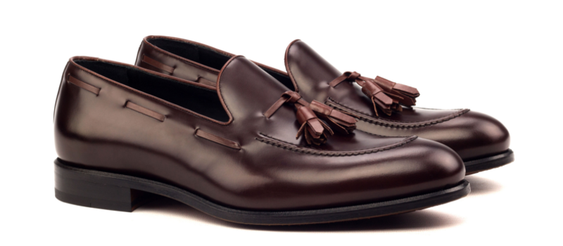 Tassel Loafer LUCA en boxcalf burgundy_1-6