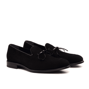 Loafer LUCA para hombre en ante y charol negro_1