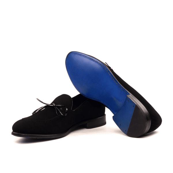 Loafer LUCA para hombre en ante y charol negro_3