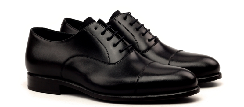 Oxford cap toe black Cambrillon