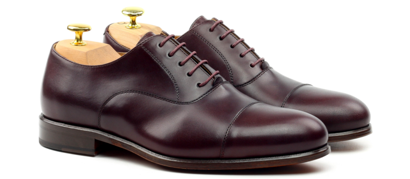 Oxford cap toe burgundy cambrillon